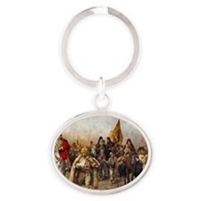 migrationframed Oval Keychain