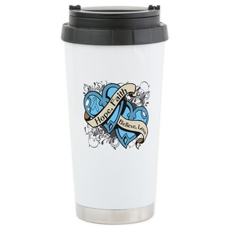 Graves Disease Hope Hearts Ceramic Travel Mug