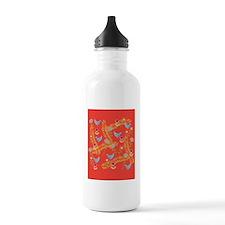 new-birdsfloral-ipad Water Bottle