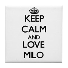Keep Calm and Love Milo Tile Coaster