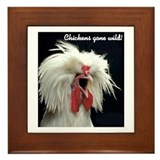 """Chickens Gone Wild"" Framed Tile"