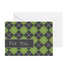 Argyle Greeting Card