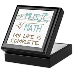 Math and Music Keepsake Box