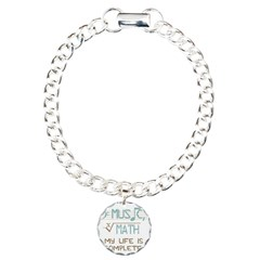 Math and Music Charm Bracelet, One Charm