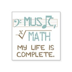 Math and Music Square Sticker 3