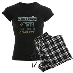 Math and Music Women's Dark Pajamas
