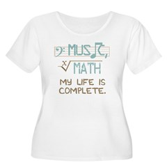 Math and Musi Women's Plus Size Scoop Neck T-Shirt