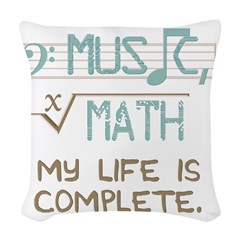 Math and Music Woven Throw Pillow