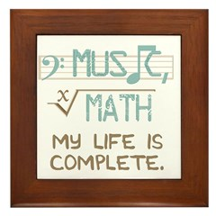 Math and Music Framed Tile