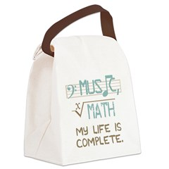Math and Music Canvas Lunch Bag