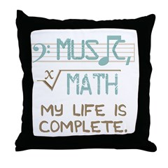 Math and Music Throw Pillow