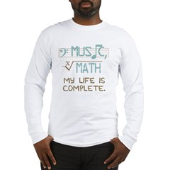 Math and Music Long Sleeve T-Shirt