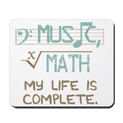 Math and Music Mousepad