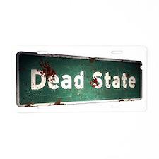 Dead State Title Aluminum License Plate
