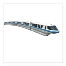 "new monorail t shirt cop Square Car Magnet 3"" x 3"""