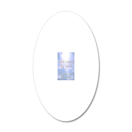 madeinchina_journal 20x12 Oval Wall Decal