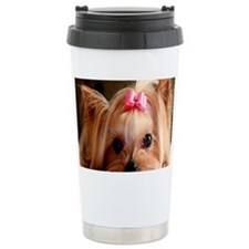 Yorkie greeting Ceramic Travel Mug