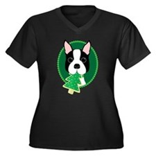 Boston Terrier Christmas Plus Size T-Shirt