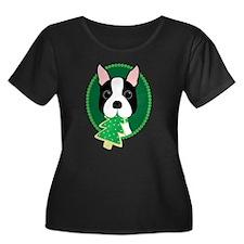 Boston Terrier Christmas Plus Size T-Shirt