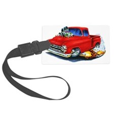 1957 Chevy Pickup Red Luggage Tag