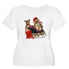 3 Pitbull wit T-Shirt