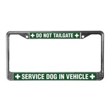 Service Dog License Plate Frame