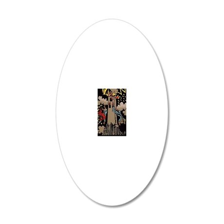 The Tower 20x12 Oval Wall Decal