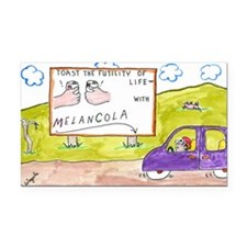 4-Melancola 10x10 Rectangle Car Magnet