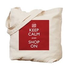 Keep Calm Shop On Tote Bag