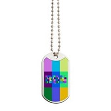 Run Squares Dog Tags