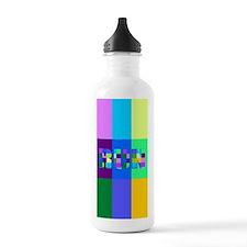 Run Squares Water Bottle