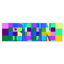 Run Squares Bumper Sticker