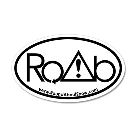RoundAbout Shirt Pocket Logo 35x21 Oval Wall Decal