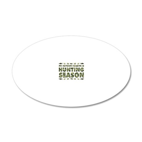 HUNTING 20x12 Oval Wall Decal