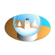 snowglobe Oval Car Magnet
