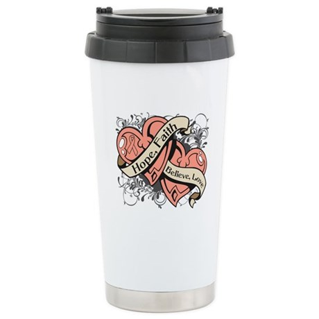 Endometrial Hope Hearts Ceramic Travel Mug