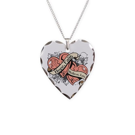 Endometrial Hope Hearts Necklace Heart Charm