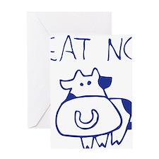 Eat no cow - blueb Greeting Card