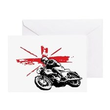 union jack cafe racer Greeting Card