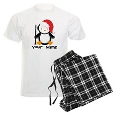Personalized Christmas Clarinet Penguin Pajamas