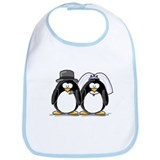 Bride and Groom Penguins Bib