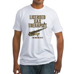 Licensed Sax Therapist Fitted T-Shirt