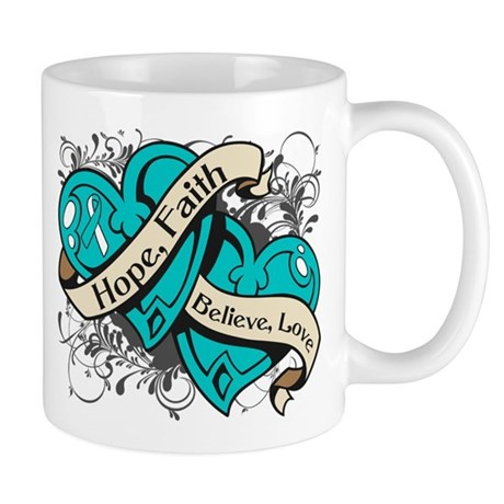 Cervical Cancer Hope Hearts Mug