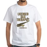 Licensed Sax Therapist White T-Shirt