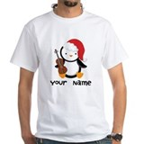 Christmas personalized Mens White T-shirts