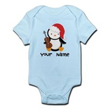 Personalized Christmas Violin Music Penguin Body S
