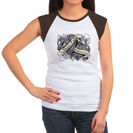 Carcinoid Cancer Hope Hearts Women's Cap Sleeve T-