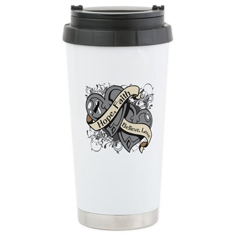 Carcinoid Cancer Hope Hearts Ceramic Travel Mug