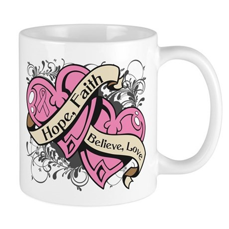 Breast Cancer Hope Hearts Mug