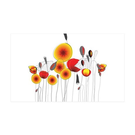 Contemporary California Poppies Wall Decal